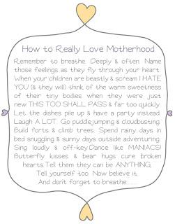 Thoughts on Motherhood