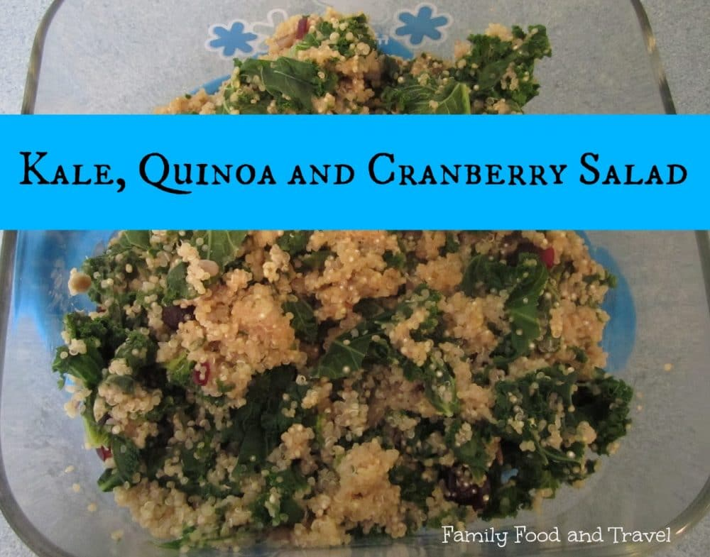 Kale Quinoa and Cranberry Salad
