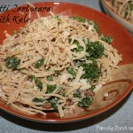 Spaghetti Carbonara with Kale
