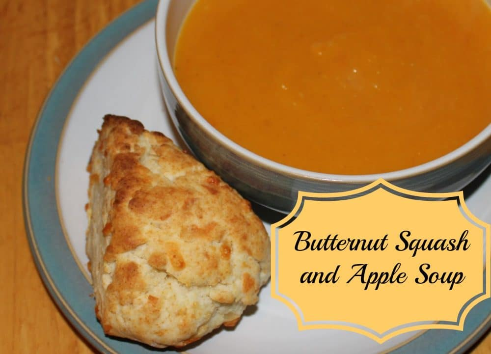 Butternut Squash and Apple Soup + Cheddar Cheese Scones