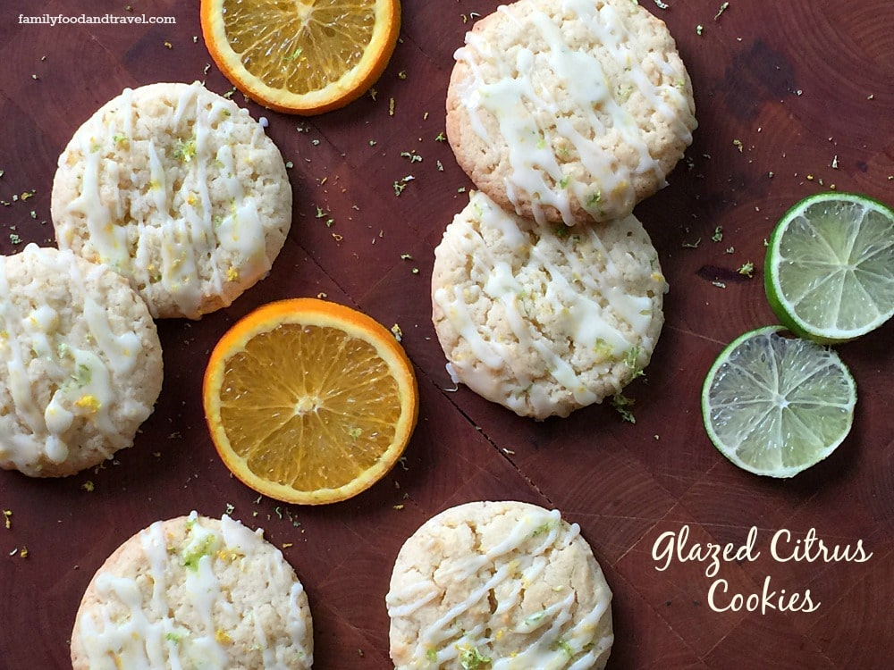 Glazed Citrus Cookies - Family Food And Travel