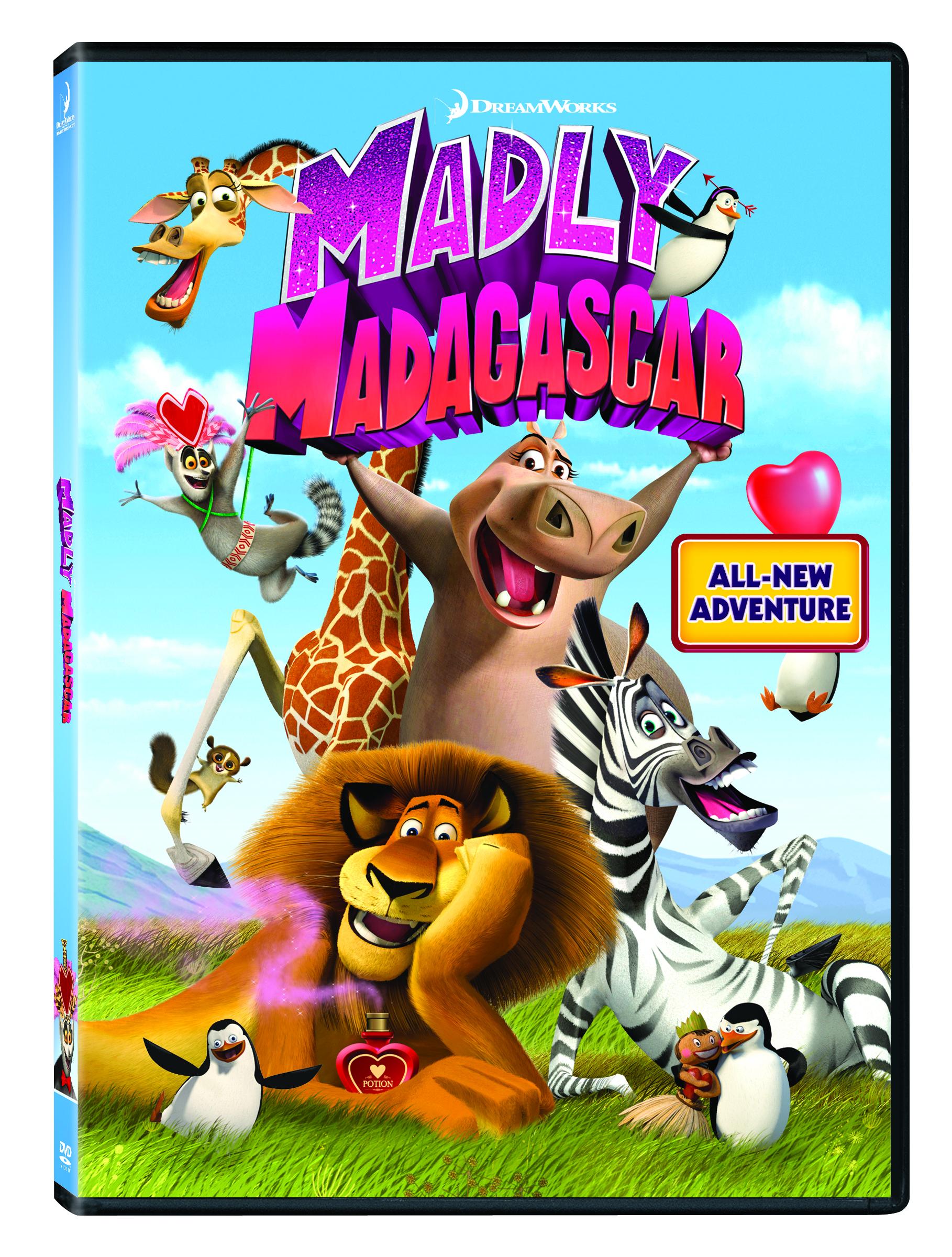 Madly Madagascar Valentines E-cards