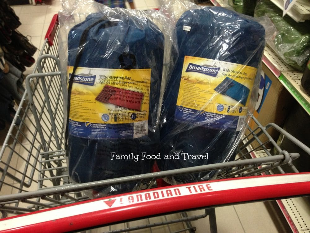 Getting Our Camping Gear at Canadian Tire cbias Family Food And