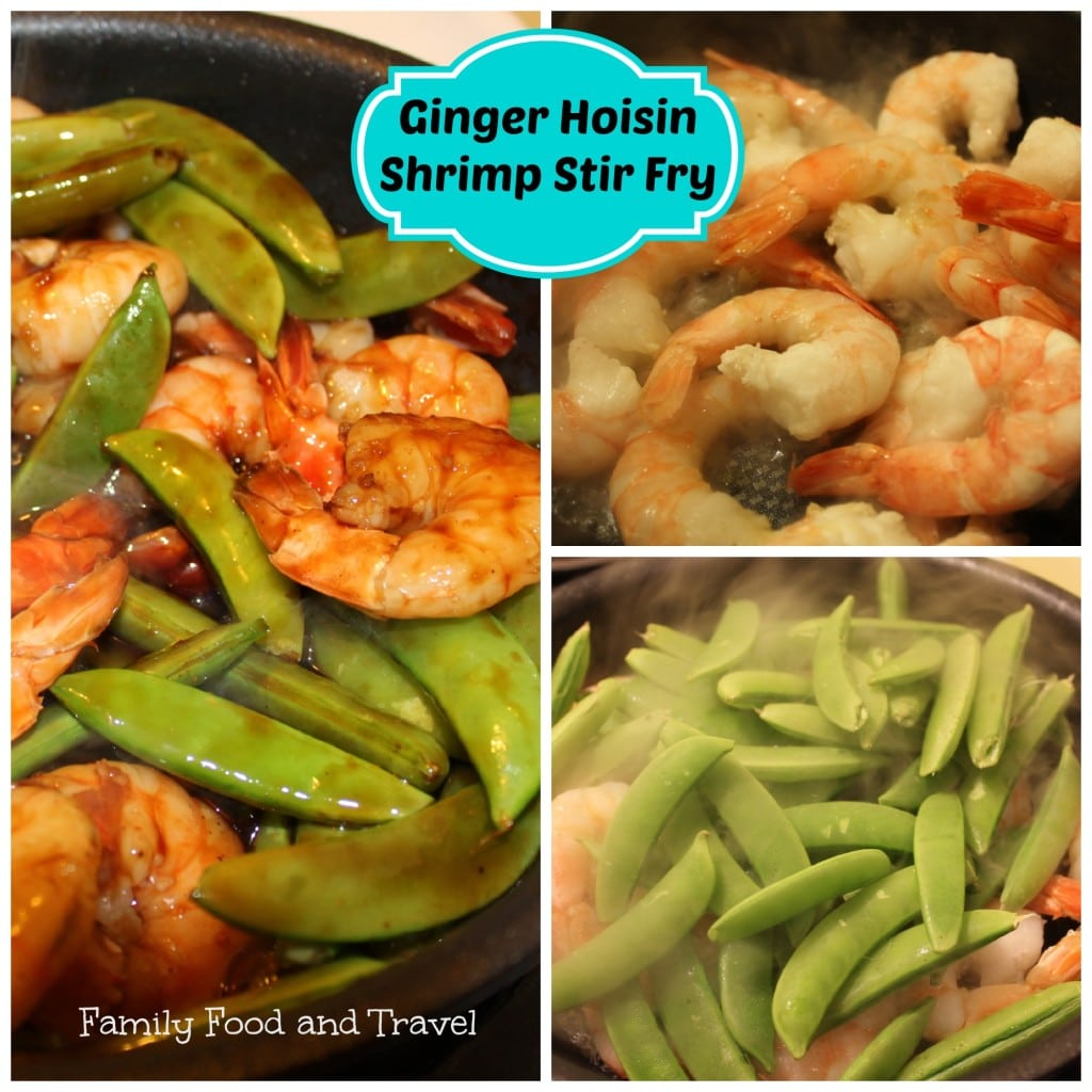 ginger hoisin shrimp stir fry