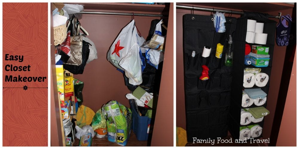 Easy Closet Organization/Makeover