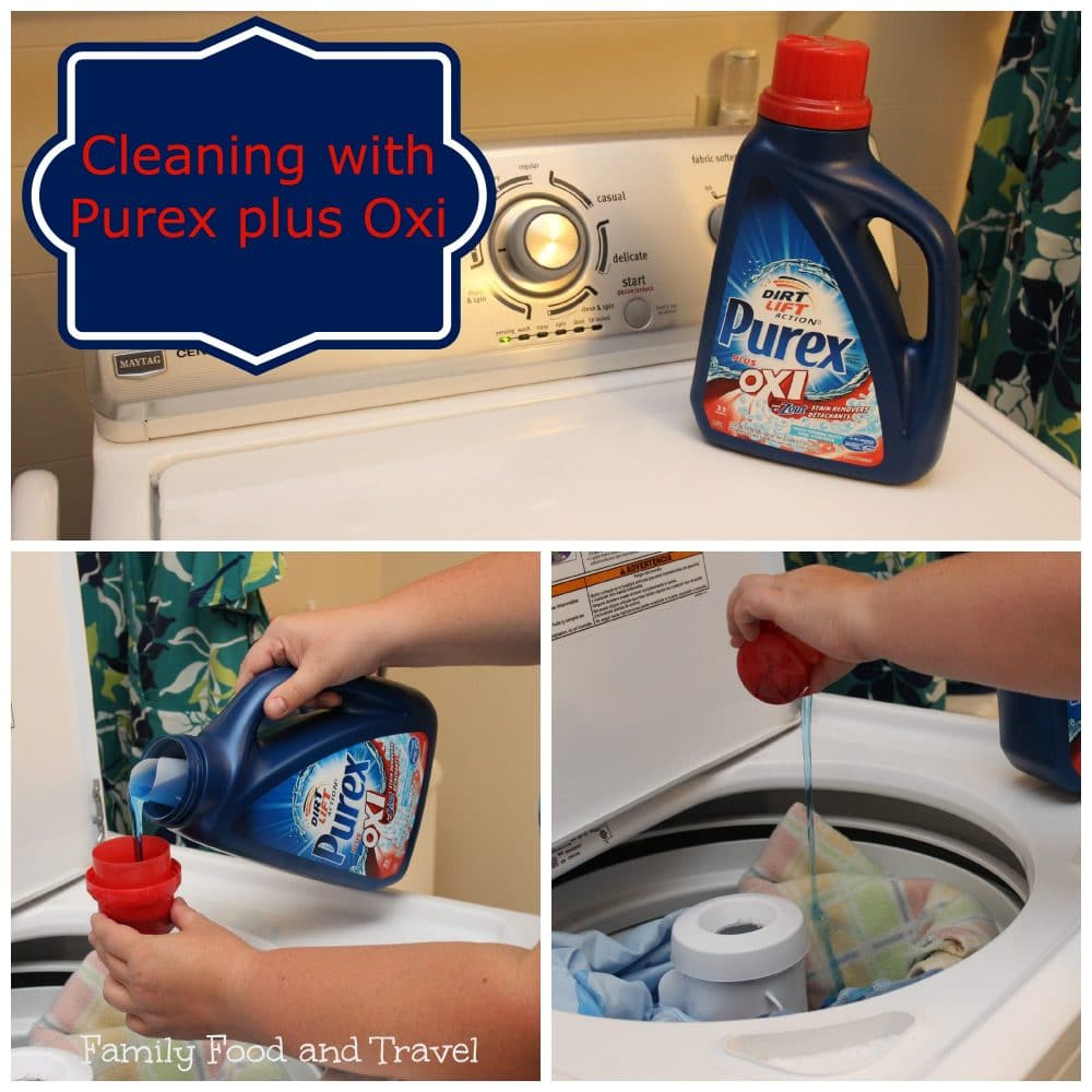 Cleaning with Purex plus Oxi