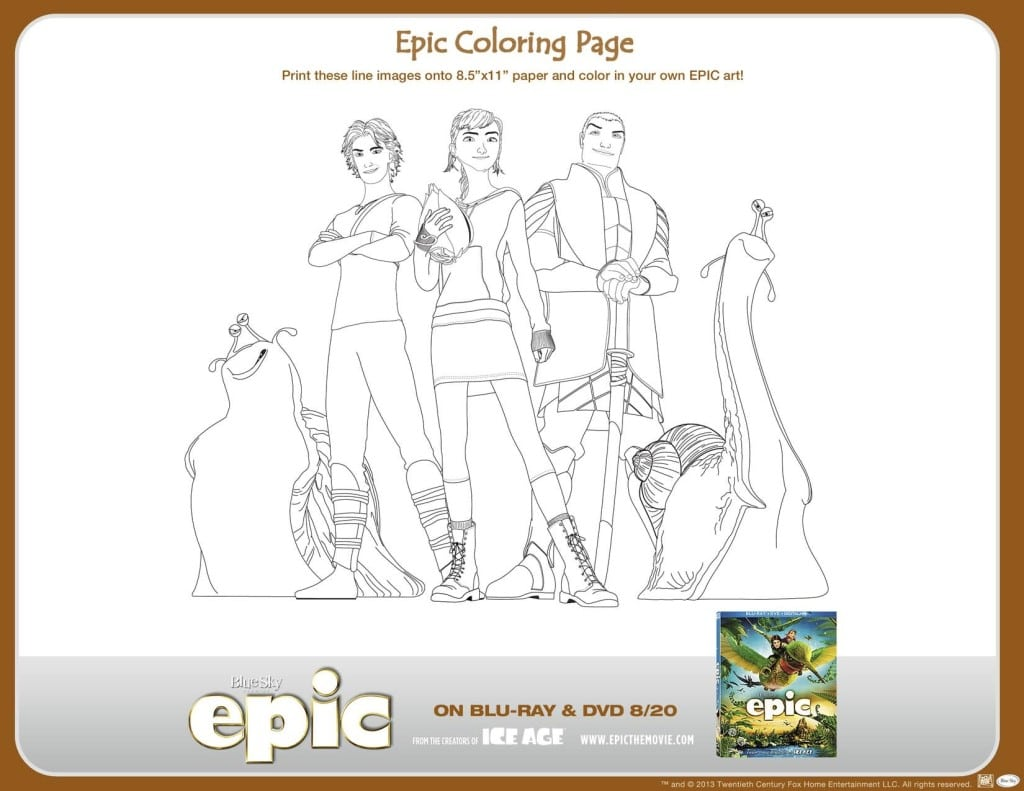 printable epic activity sheets