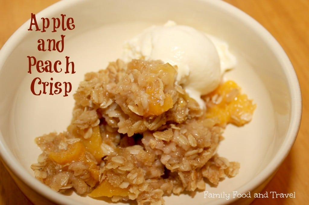 apple peach crisp