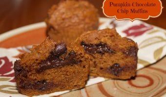 Low Fat Pumpkin Chocolate Chip Muffins
