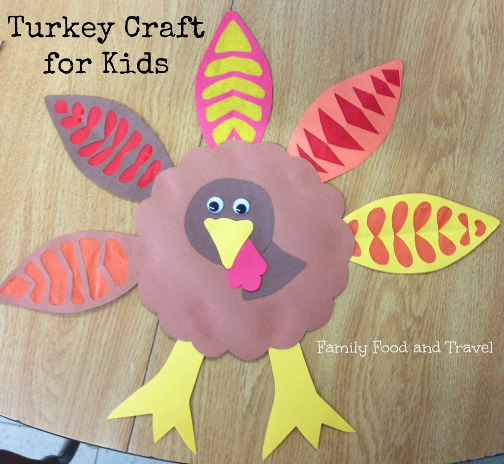 Turkey craft for kids big and little family food and travel for Thanksgiving crafts for infants