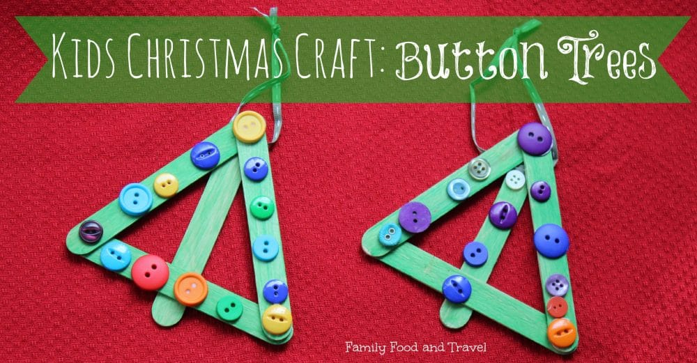 Kids Christmas Craft: Button Trees