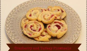 Turkey and Cranberry Pinwheels