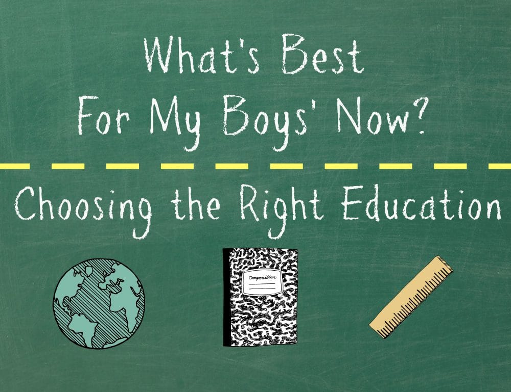 What's Best for My Boys' Now? Choosing the Right Education