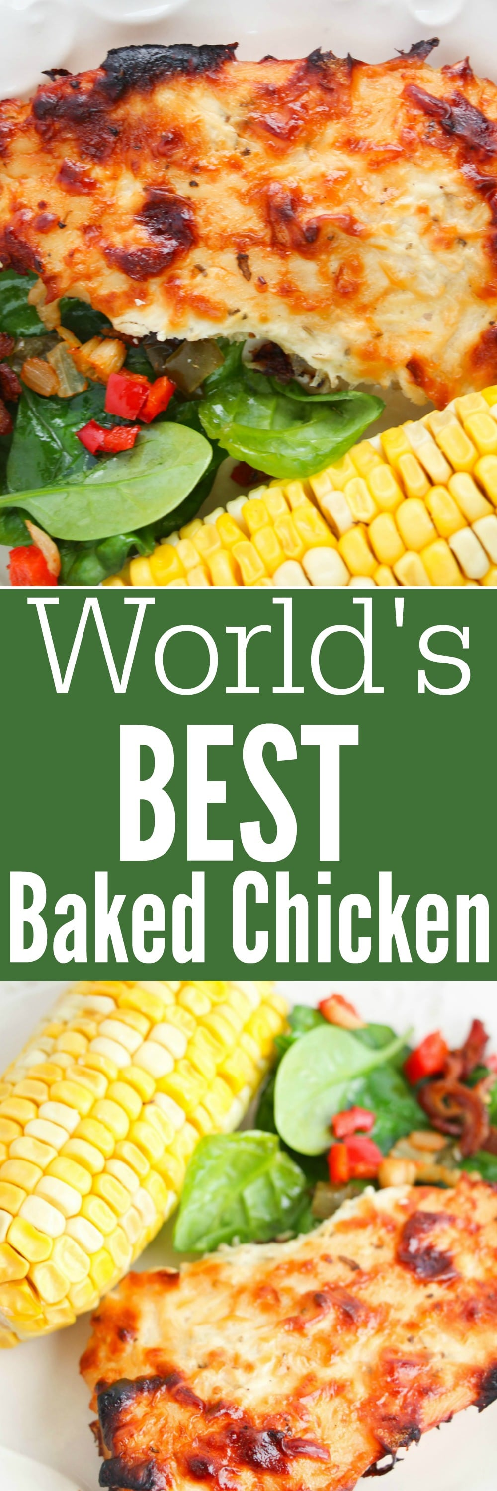 World's Best Baked Chicken Recipe - easy to make and a quick family favourite.