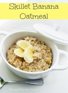 skillet banana oatmeal