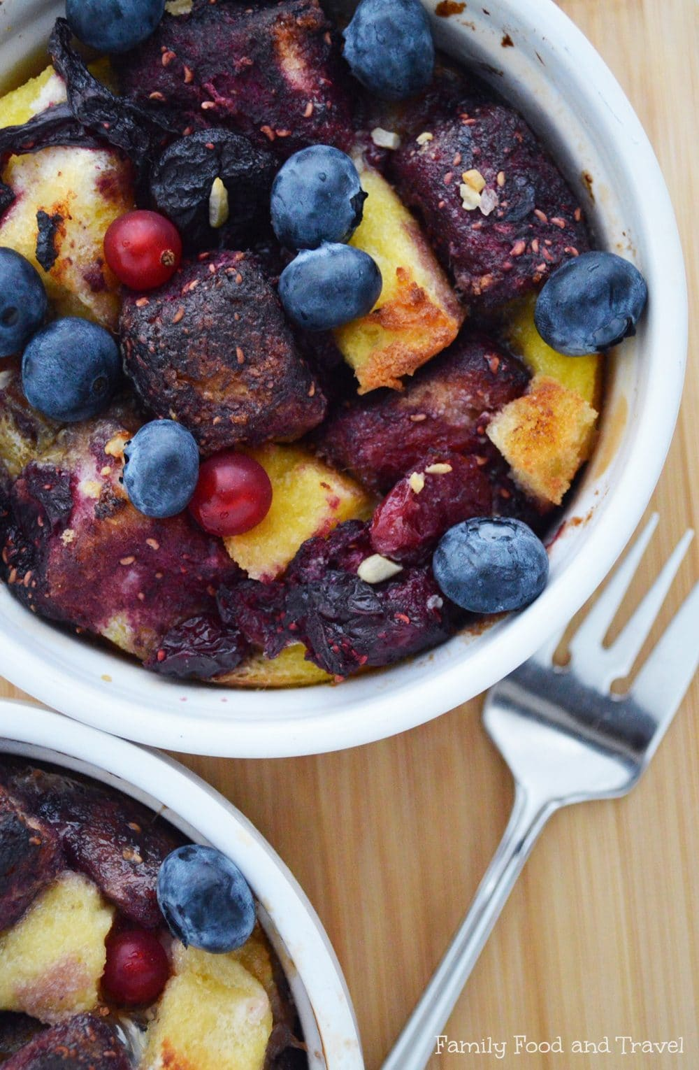 Individual French Toast Bake with Berry Reduction