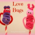 DIY Love Bug Finger Puppets
