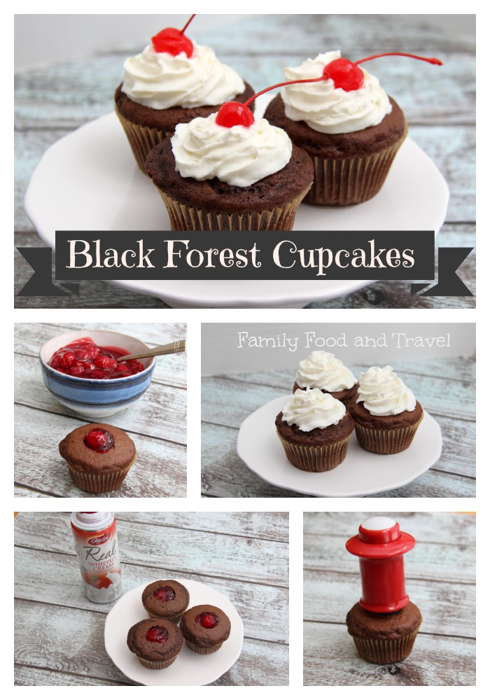 black forest cupcakes collage