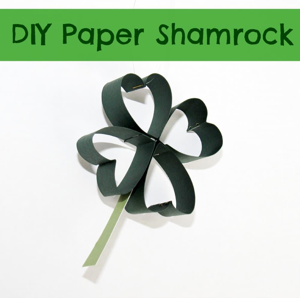 DIY Paper Shamrock (Four Leaf Clover)