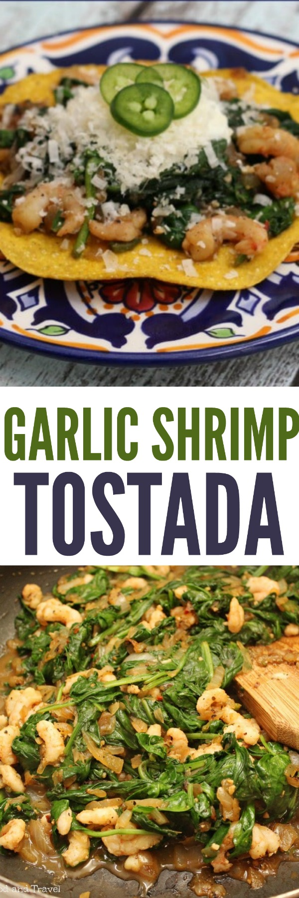 Garlic Shrimp Tostada with Jalapenos