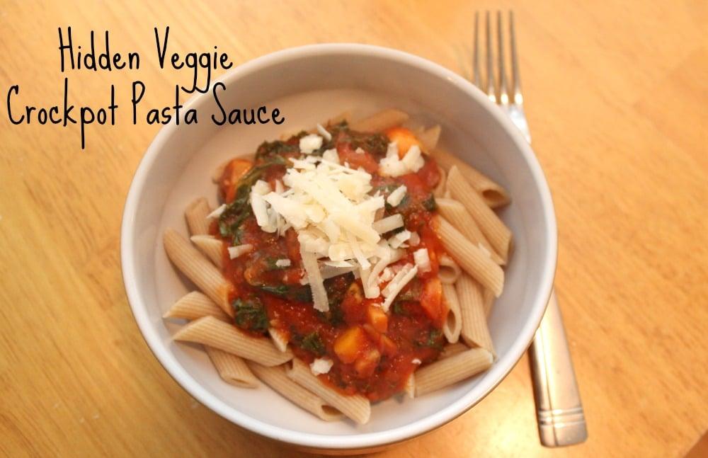 hidden veggie crockpot pasta sauce