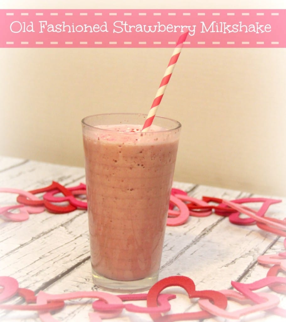 old fashioned strawberry milkshake