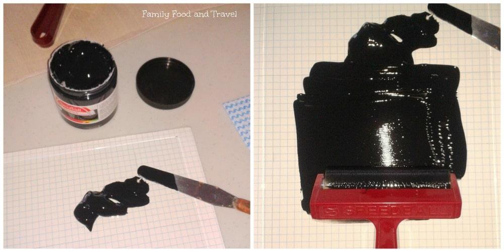 diy fabric stamping inking