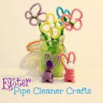 Easter Crafts: Pipe Cleaner Flowers and Bunnies