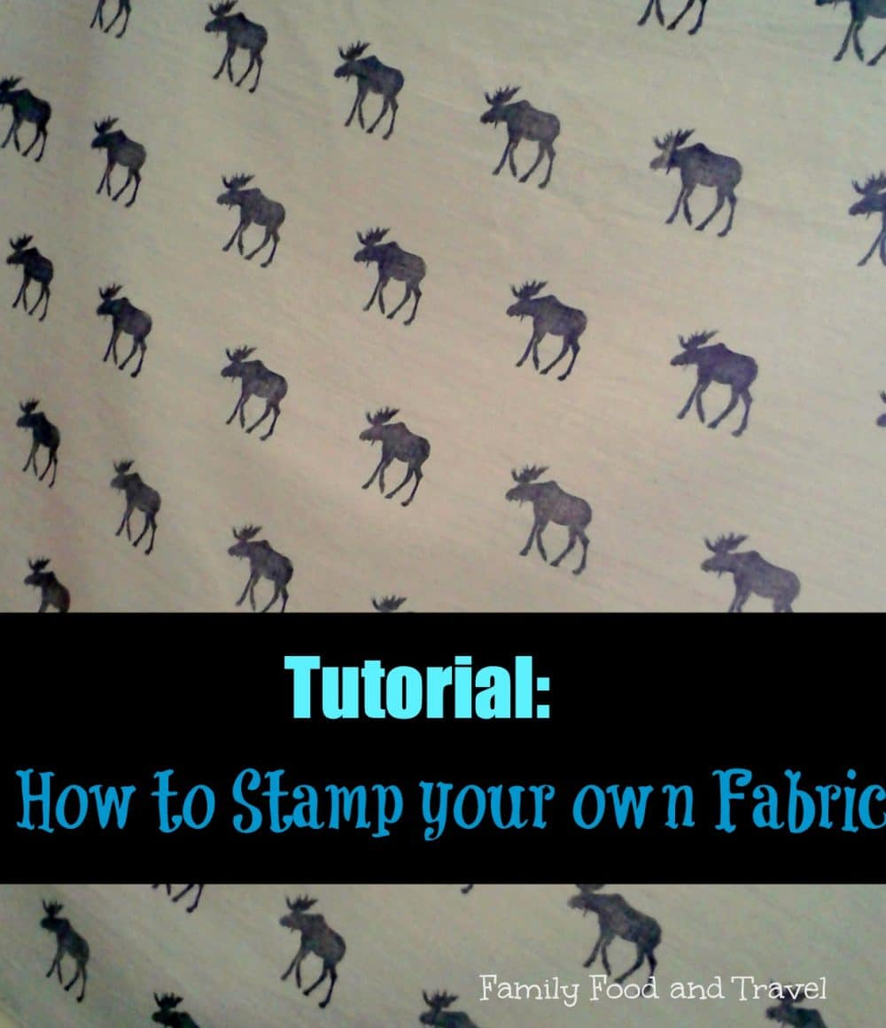 how to stamp your own fabric