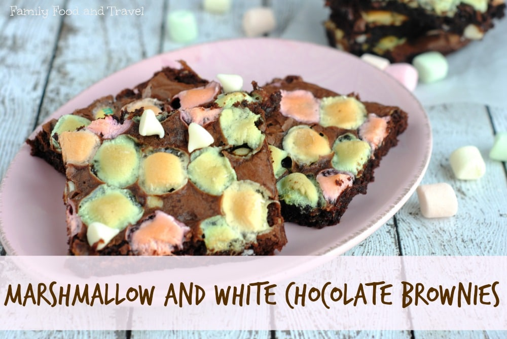 marshmallow and white chocolate brownise