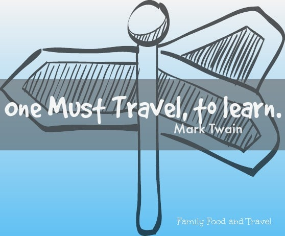 one must travel to learn