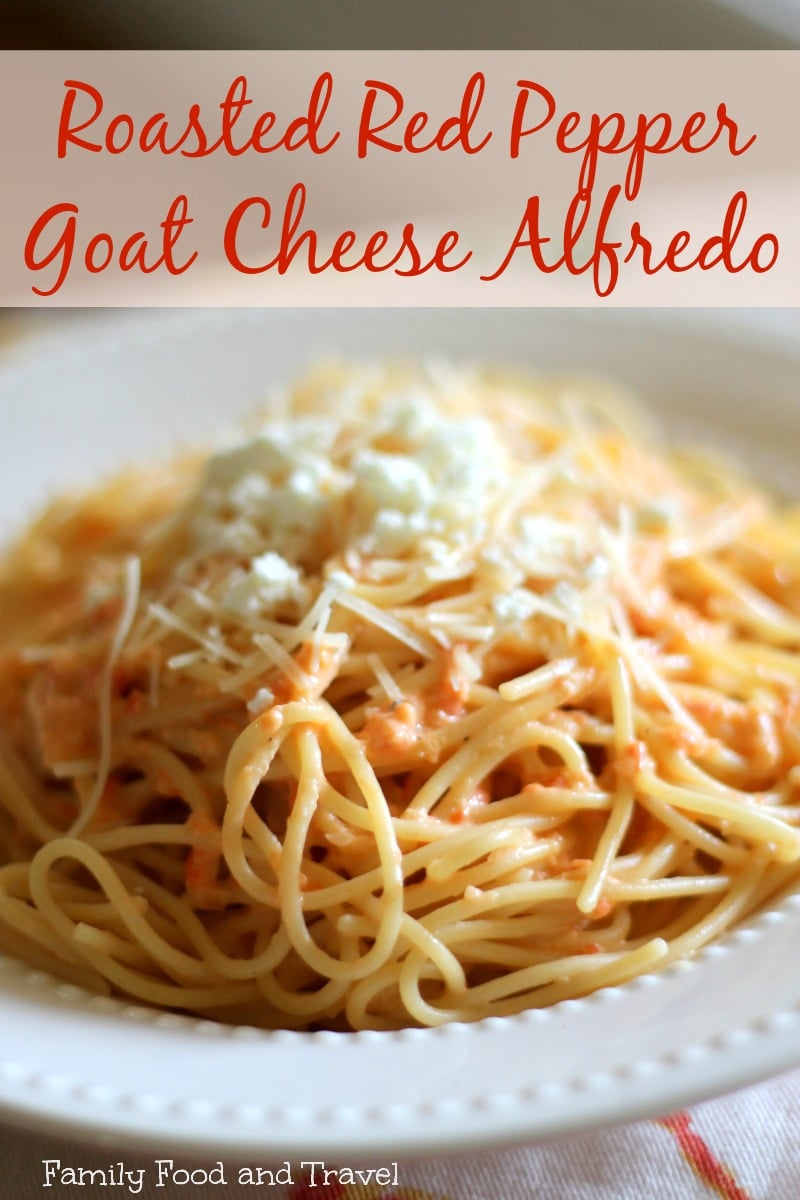 roasted red pepper goat cheese alfredo sauce