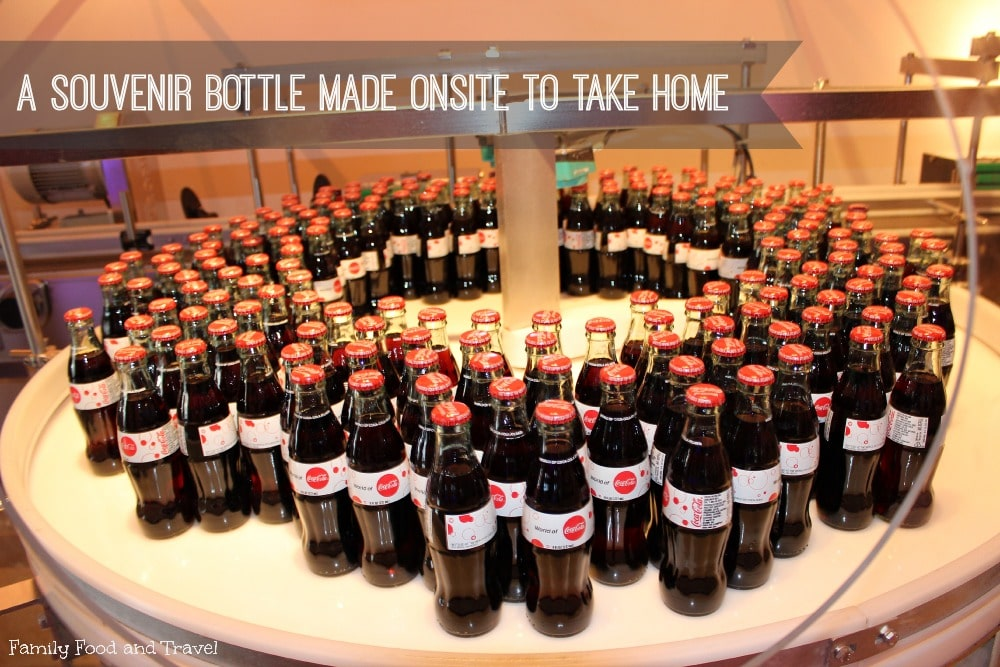 souvenir bottles from World of Coca Cola