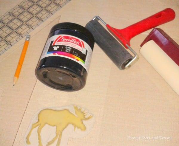 DIY fabric stamp materials