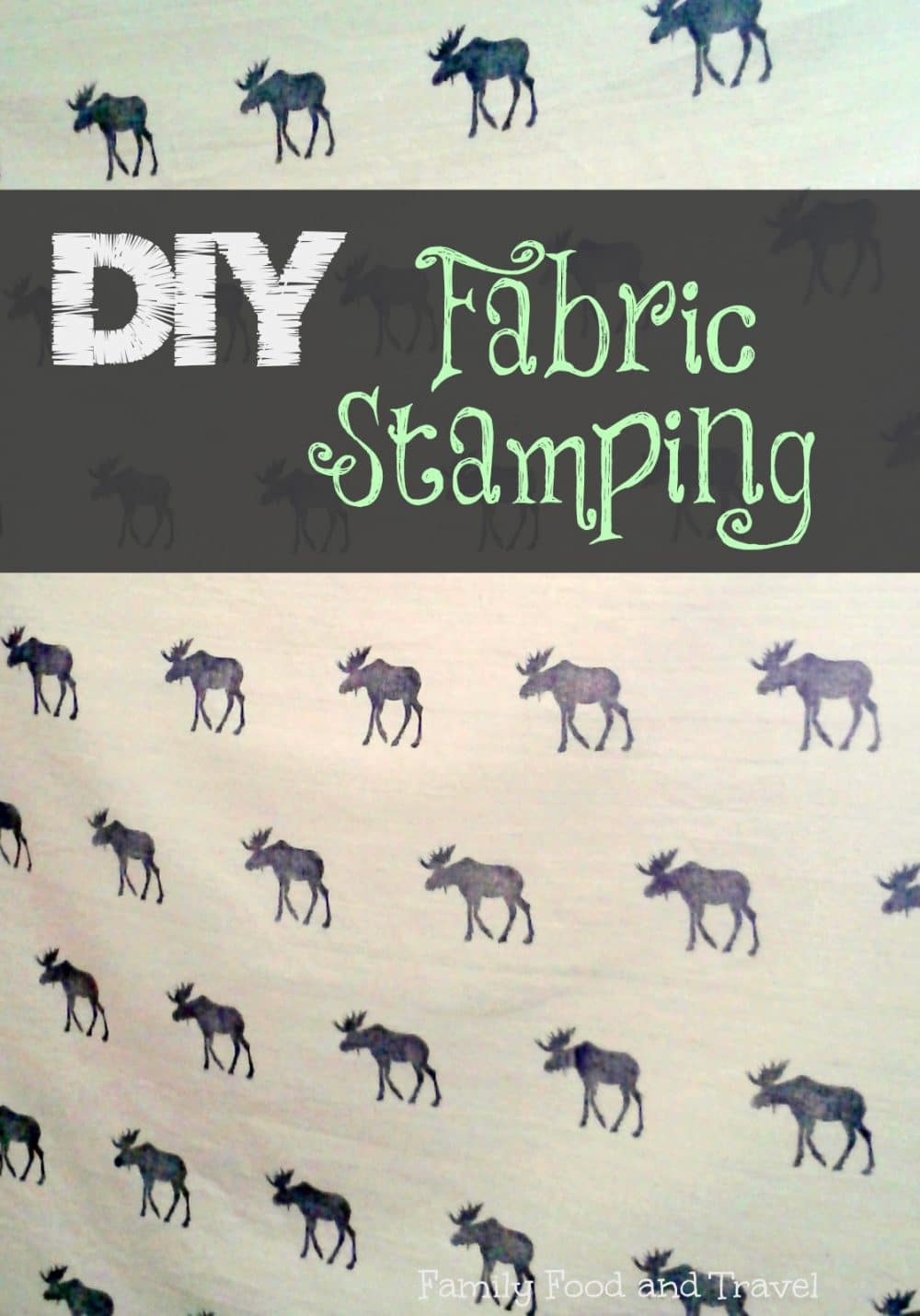 Diy Fabric Stamping Family Food And Travel