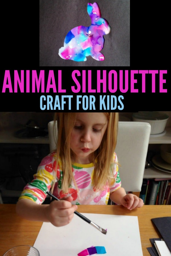 Animal Silhouette Craft for Kids