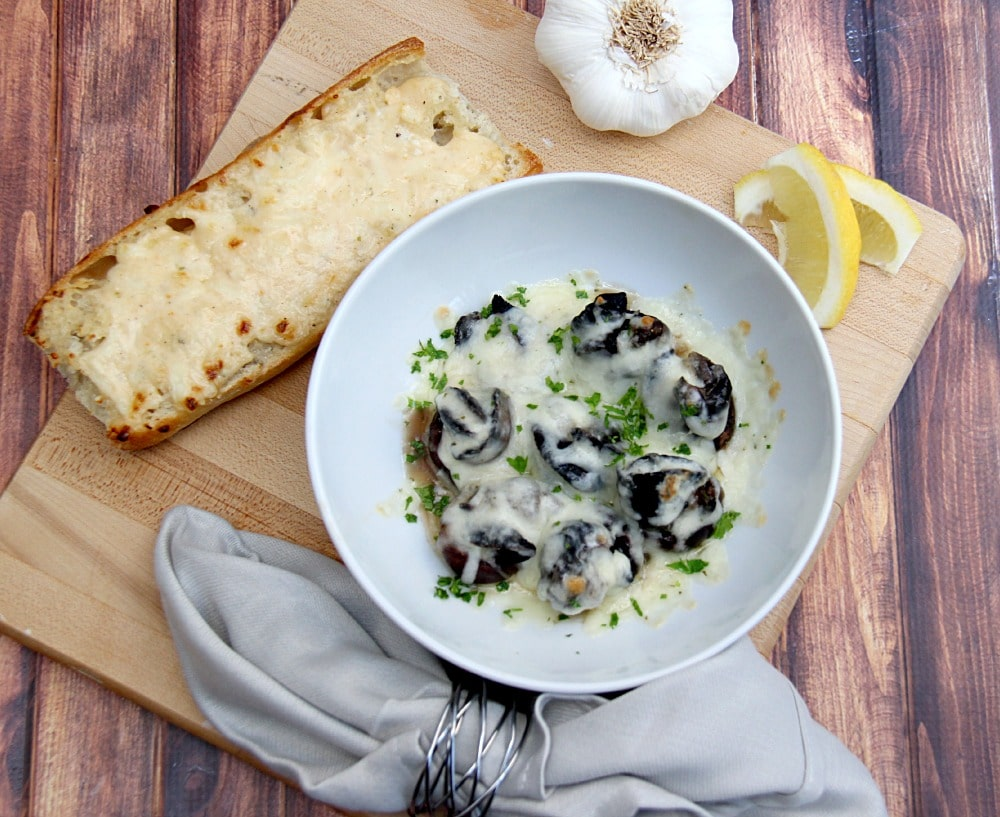 escargot and garlic bread