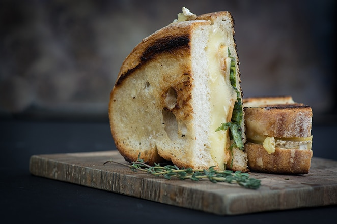 Roasted Apple & Brie Grilled Cheese