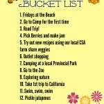 Our 2014 Summer Bucket List #KFCBucketList