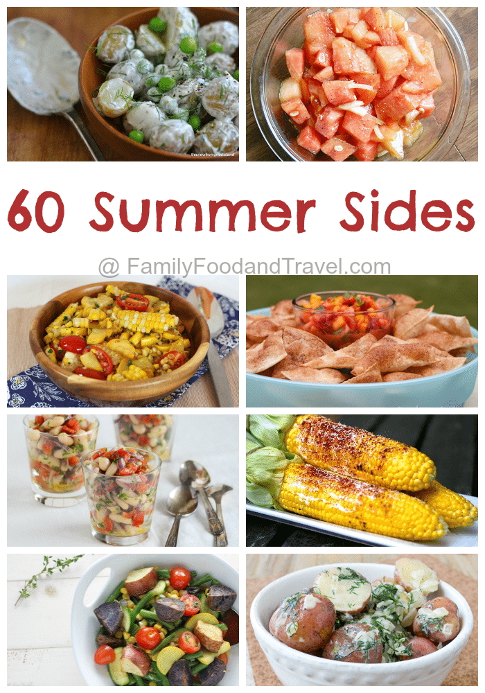 60 Summer Sides | FamilyFoodandTravel.com | #bbq #potluck #roundup