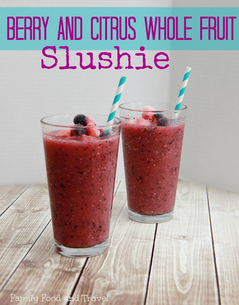 Berry and Citrus Whole Fruit Slushie