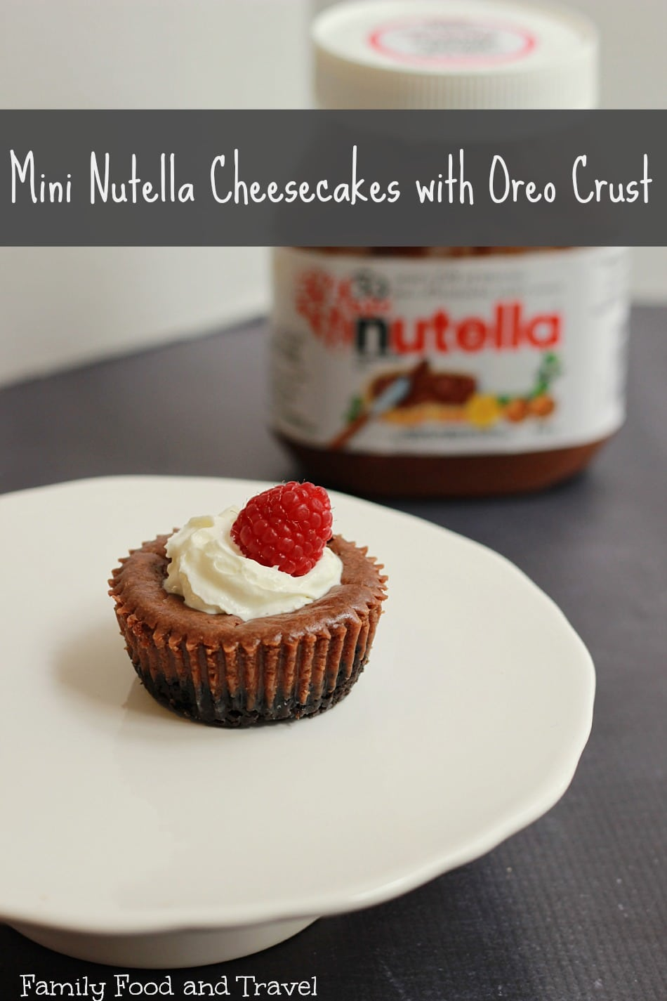 mini nutella cheesecakes with oreo crust