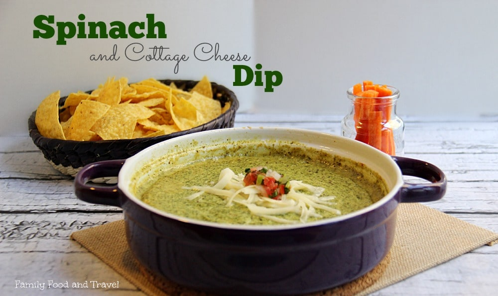 Spinach and Cottage Cheese Dip Horizontal
