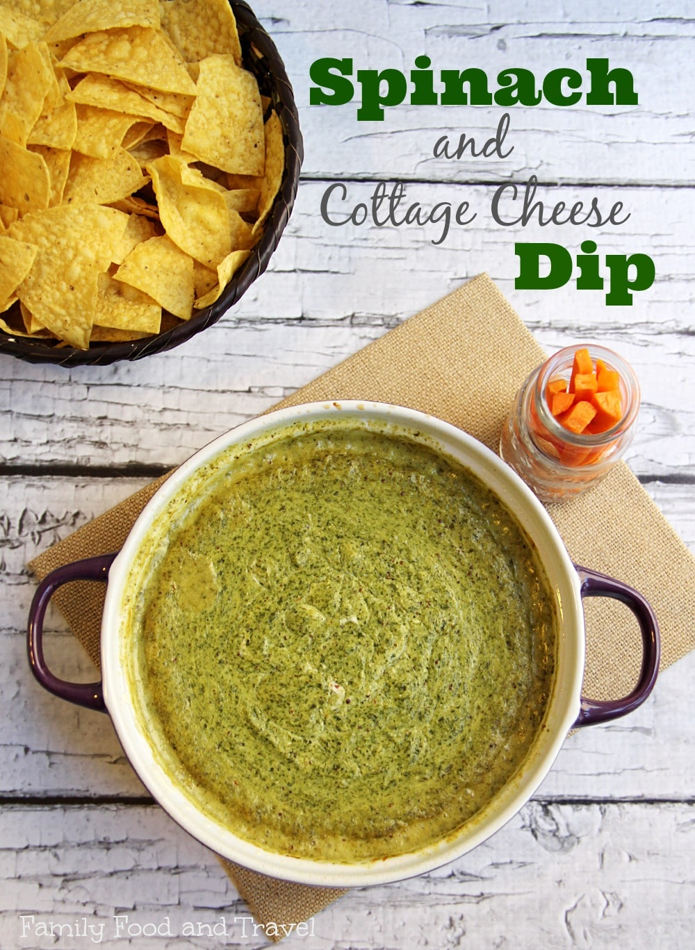 Hot Cottage Cheese Spinach Dip