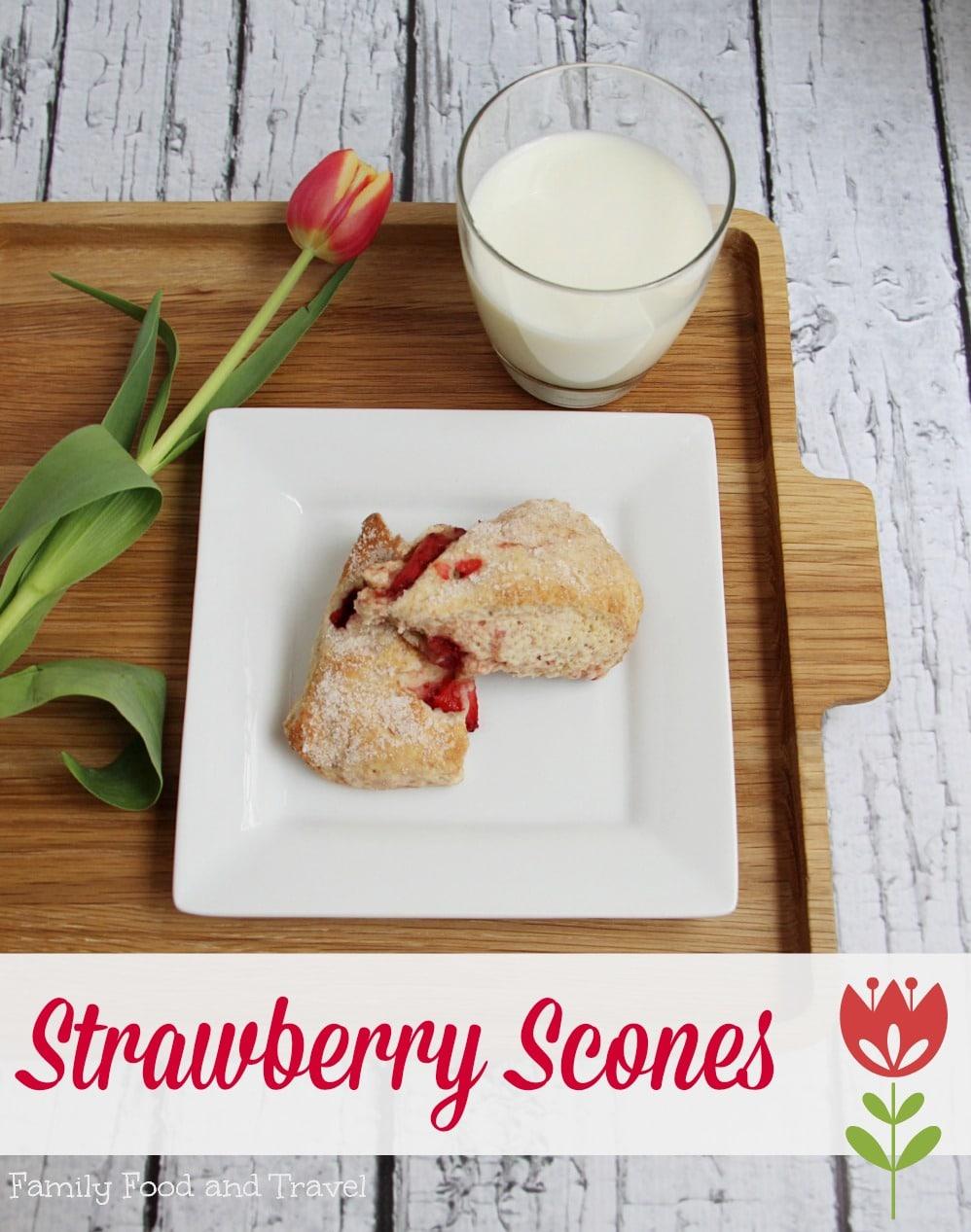 Strawberry Scones a