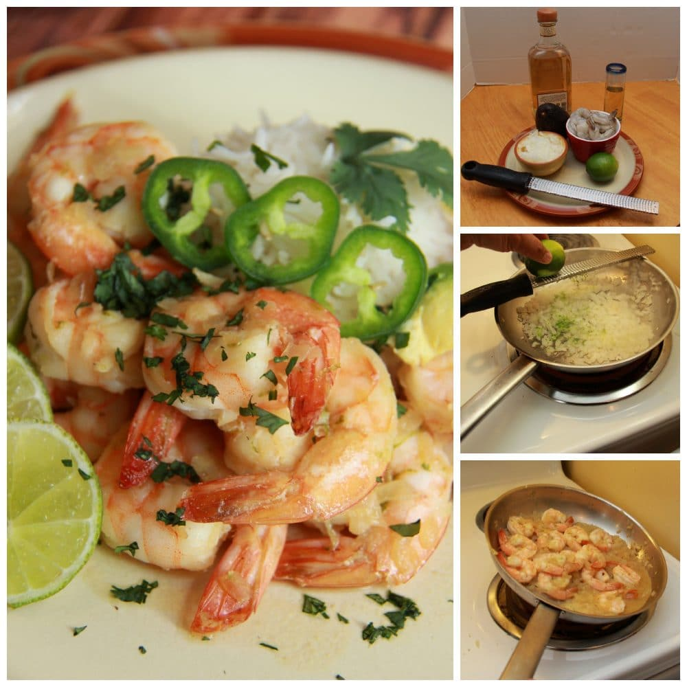 Tequila Lime Shrimp Collage