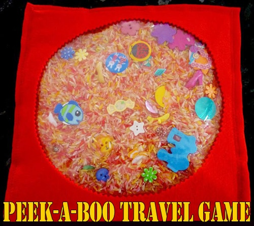 Travel Games and Activities - peek-a-boo travel game