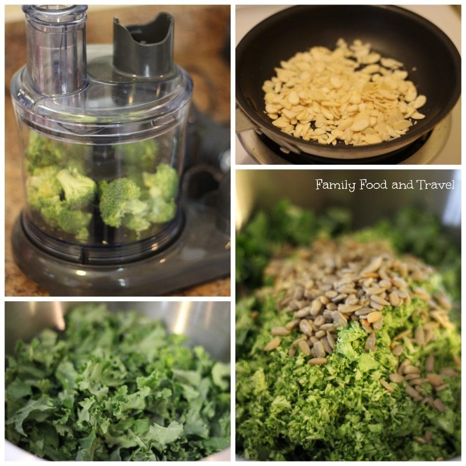 Kale Detox Salad Prep
