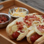 Crunchy Bacon Cheese Hot Dogs