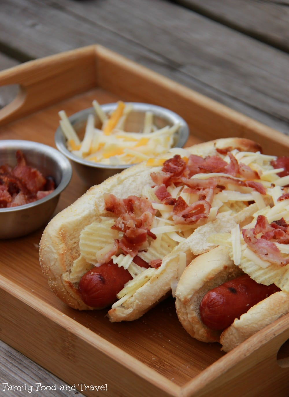 bacon cheese hot dogs